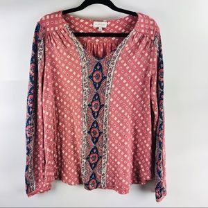 Lucky Brand blouse top size large